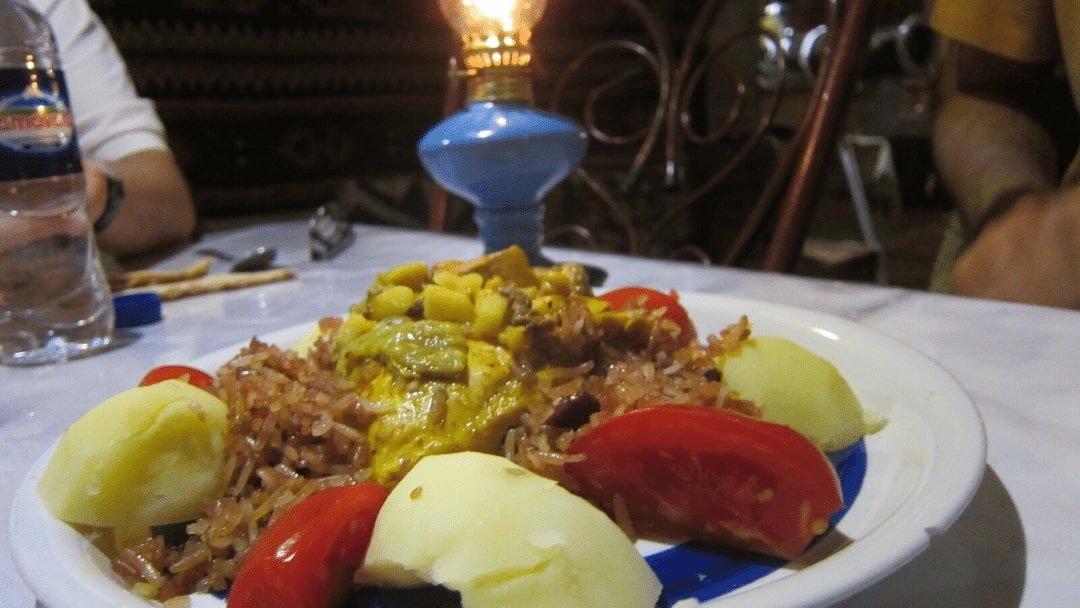 plate of Persian food