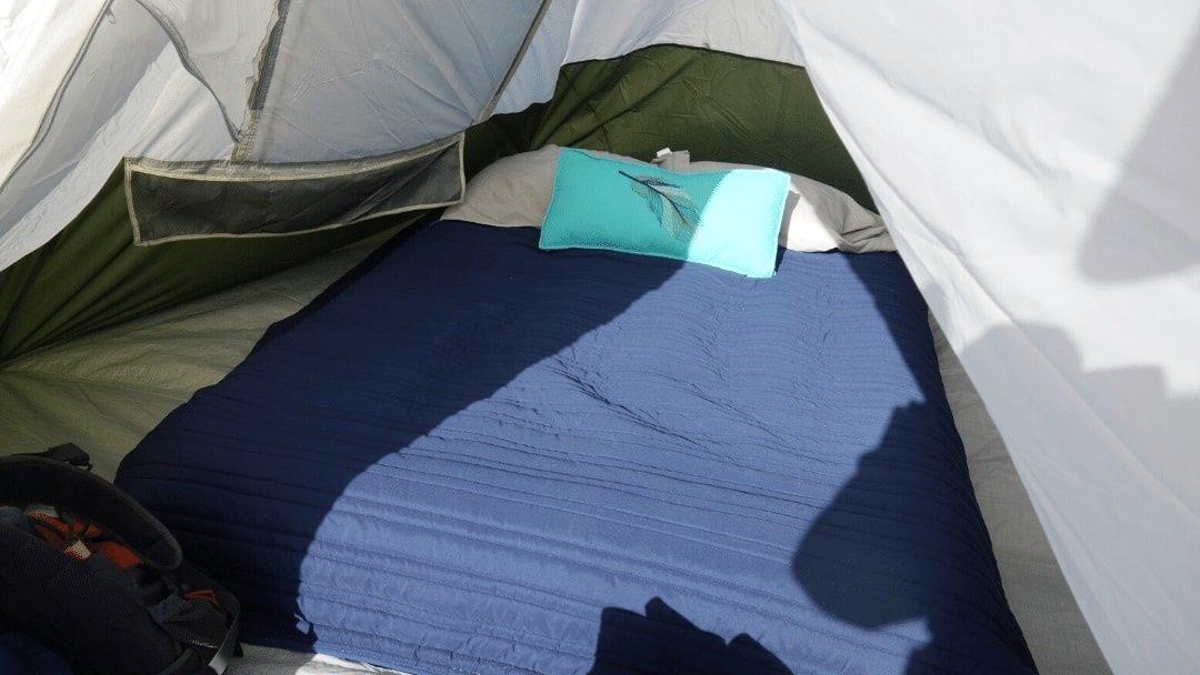 inflatable set up inside a big tent