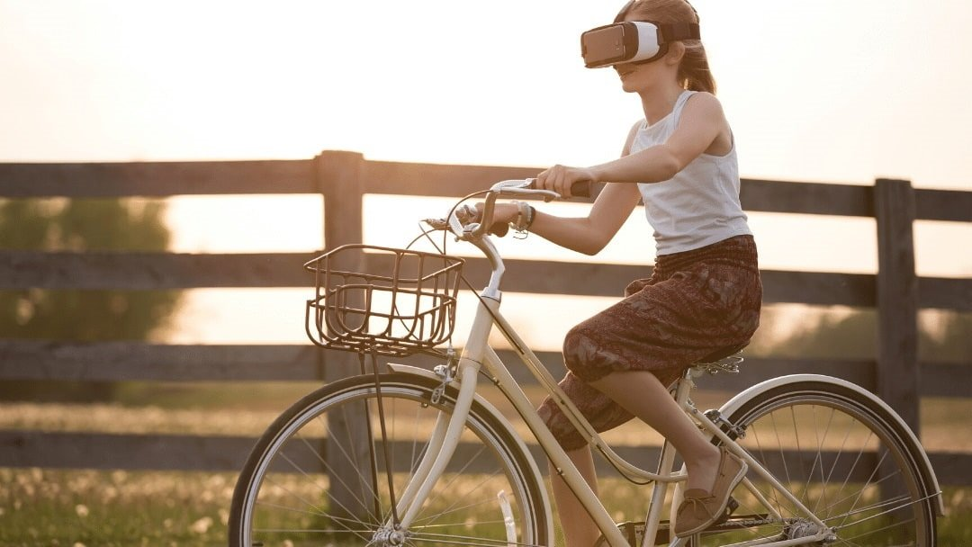 Virtual Reality Travel on Bicycle