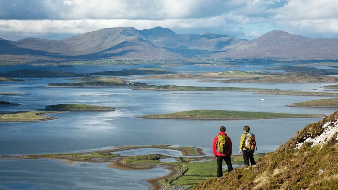 hikers near Croagh Patrick, Ireland