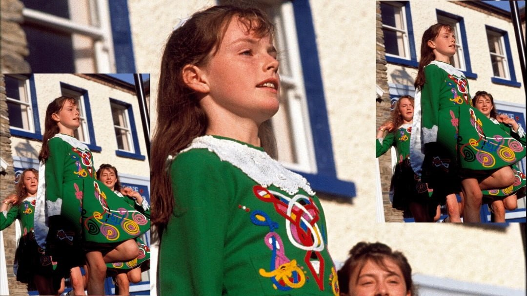 young Irish girl doing traditional dance