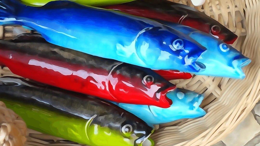 colorful ceramic sardines in Portugal