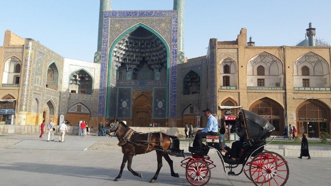 Horse cart in Naqsh-e Jahan Square, Iran