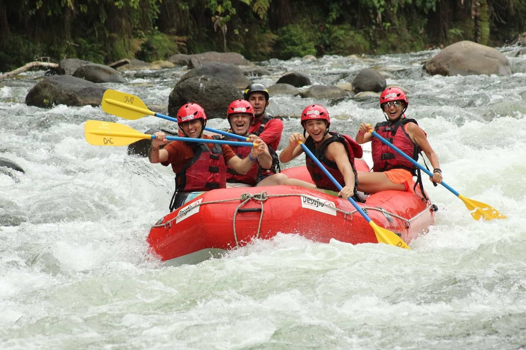 whitewater rafting on Sarapiqui River in Costa Rica