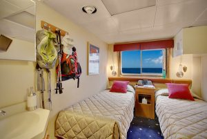 2 beds on small UnCruise boat on Wilderness Discoverer