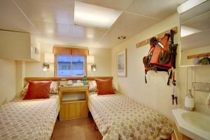 2 beds in UnCruise ship on Wilderness Discoverer
