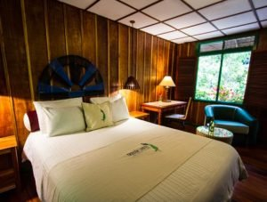 bed at Trogon Lodge