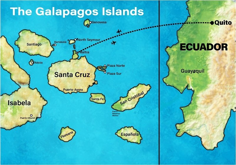 Ecuador and Galapagos Map