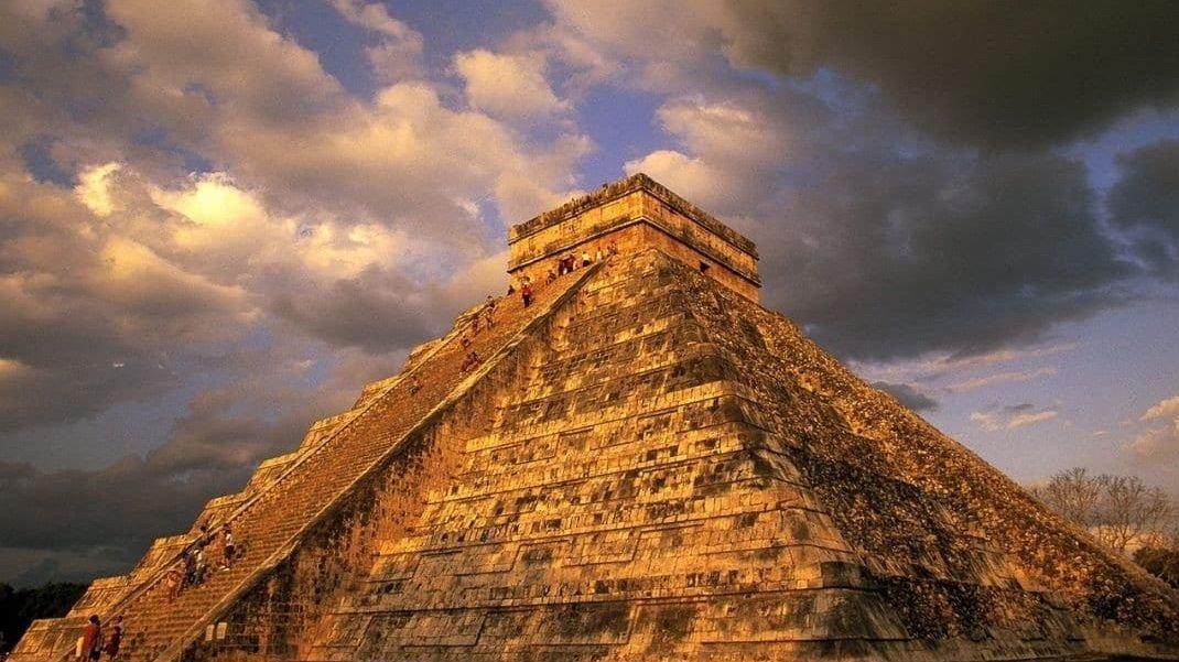 Maya pyramid Ruins