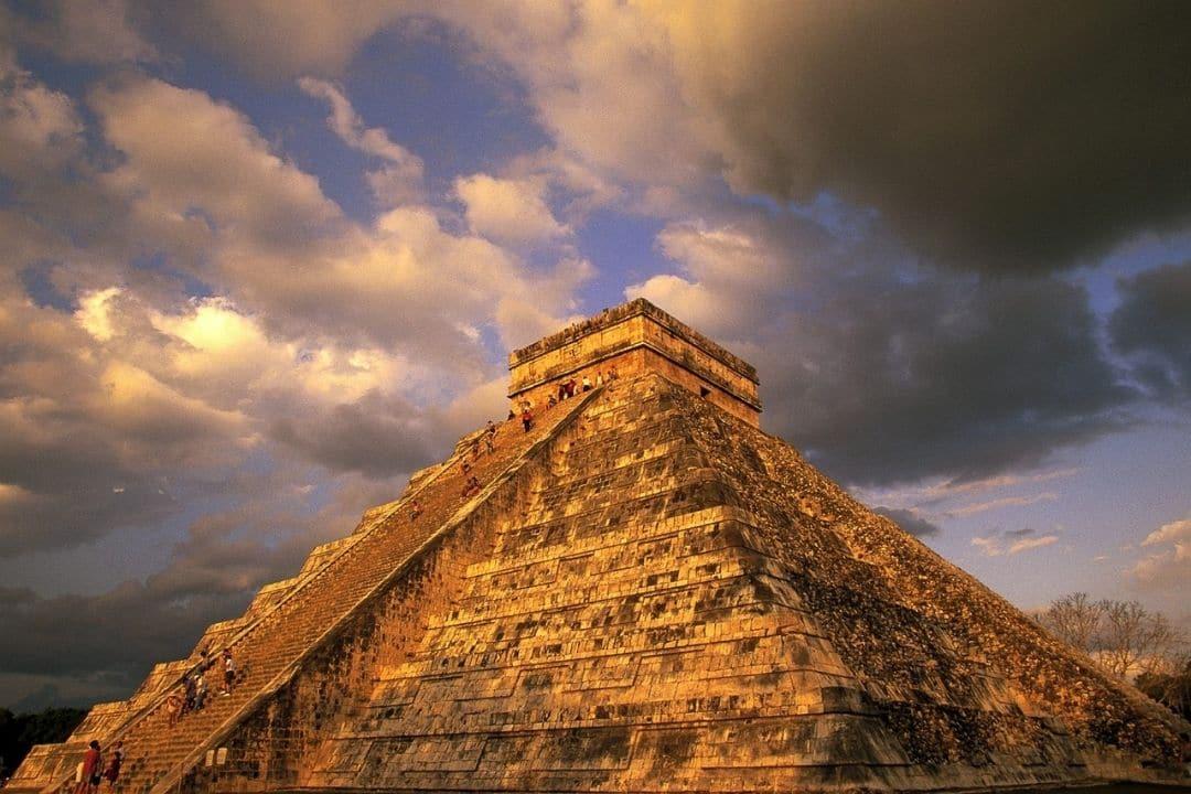 massive Mayan pyramid