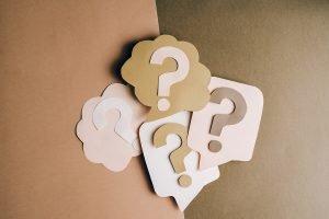 Paper cutout question marks